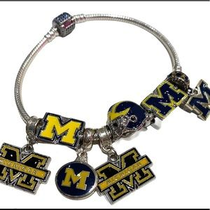 Pandora University of Michigan Charm Bracelet
